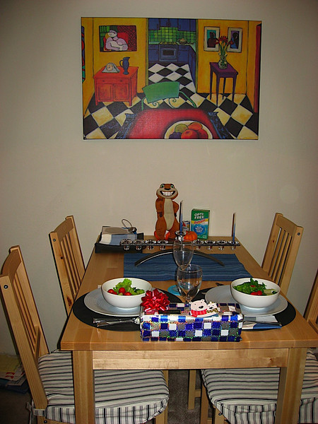 Dinner on the first night of Chanukkah