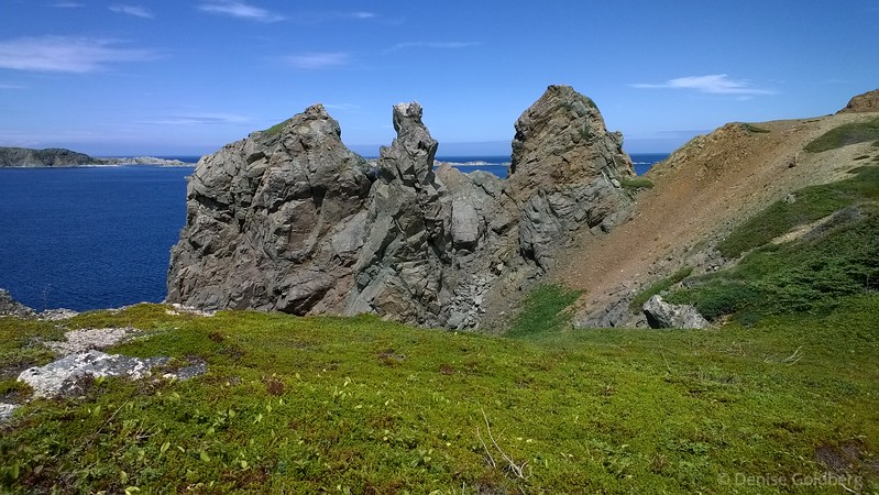 rock formations along the trail, near French Head, Twillingate, Newfoundland