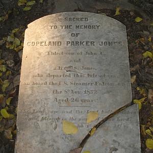 Copeland Parker Jones Headstone