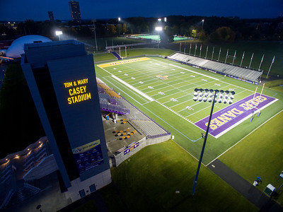 Tom & Mary Casey Stadium at Night