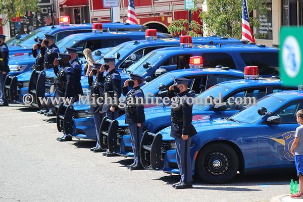 8/8/20 - MSP Trooper Caleb Starr funeral procession