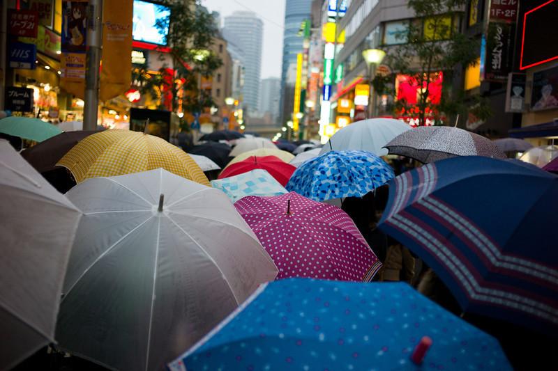 a rainy day in Ikebukuro
