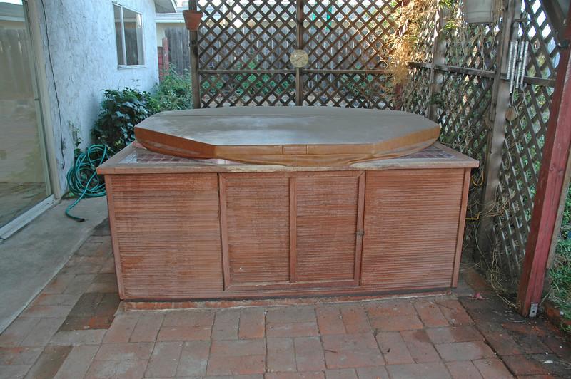 The backyard spa transfers with no warranty.