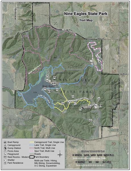 Nine Eagles State Park (Trail Map)