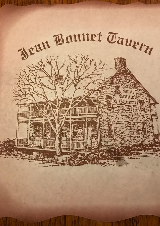Jean Bonnet Tavern menu