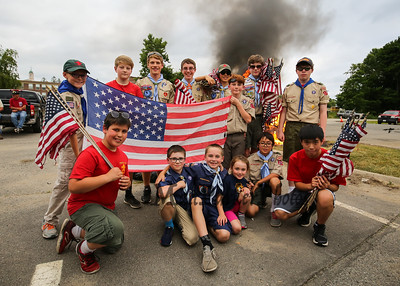 2018-6-13 Flag Day, Post 35, Troop 177
