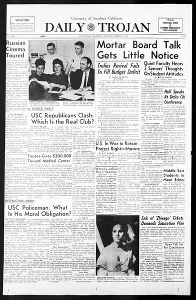 Daily Trojan, Vol. 57, No. 93, March 24, 1966