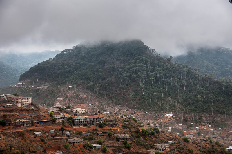 Overlooking the town of Freetown in Sierra Leone