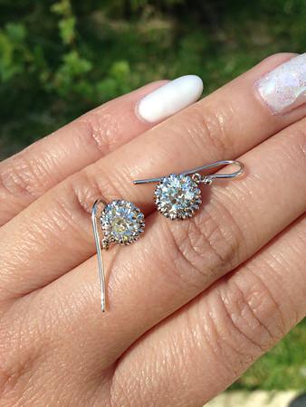 1.90ctw (Est.) Old European Cut Diamond Earrings, N/O, VS
