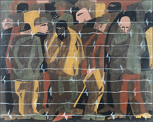"Jacob Lawrence, ""War No. 13, Repoted Missing"" (1947)"