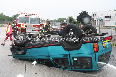 West Babylon F.D. Overturned Auto E/B Sunrise Highway Express East Of Rt-109 8-3-13