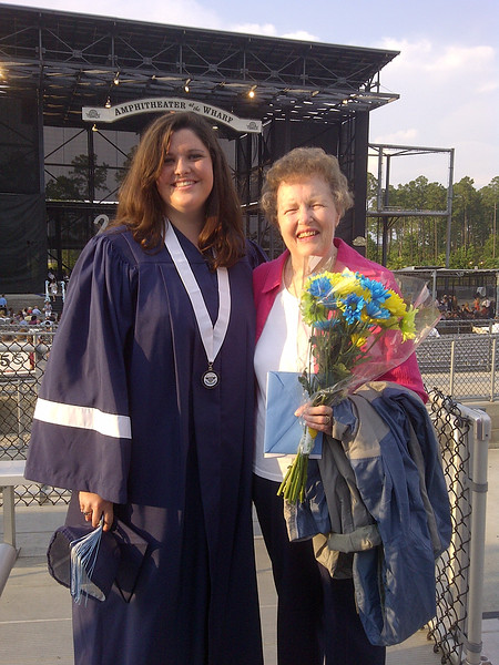 "Today our family attended the graduation of my niece, Sarah, from Gulf Shores High School.  It was bitter sweet in that her father, my brother, David, was not there to see her take the next step in her life.  He passed away a few years ago from leukemia.  I see so much of him in her.  He would have been so proud.  She was the light of his life and could do no wrong in his eyes.  She felt the same way about him.  I remember taking Matt on a fishing trip with him and Sarah (and my brother was a serious fisherman).  Sarah was small and decided to simply feed the worms to the fish by hand, dropping them one by one into the water.  Now had it been anyone else, David would have been put out, but not with Sarah.  He simply looked at me and smiled and said, ""Isn't she cute?""  In the same way, she adored him.  When she was still small, she escaped from their home and decided to go on an adventure around the neighborhood.  The family was frantic and finally found her.  Soon after, I asked her about her adventure and she told me how she was accosted by a snarling pink bear with big white teeth and how her father came to her rescue and saved her.  She had such a great imagination and her daddy was her hero.  Congratulations Sarah!  Now go make your mom and dad proud."