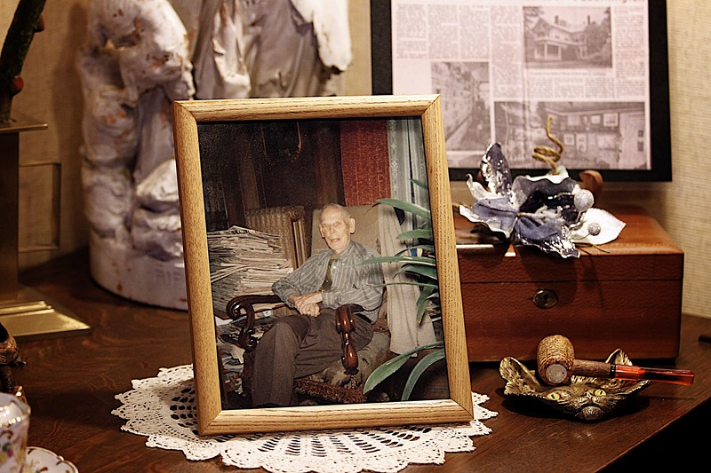 Kevin Bartram | Staff A photograph of Bradley Barnes sits on a table at the Barnes Museum at 85 North Main Street in Southington on Wednesday. The museum will host a 40th anniversary open house this weekend.