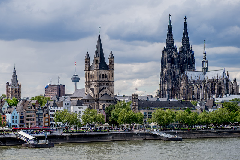 Basilica of St. Severin, Colonius TV-tower, Great St. Martin Church, Cologne Cathedral