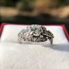 1.18ctw Art Deco Princess Halo Ring 13