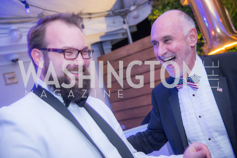 Adam Perry, Joe McElwee, Capitol Seniors Housing, 15th Anniversary Party.  November 8, 2018. Photo by Ben Droz.