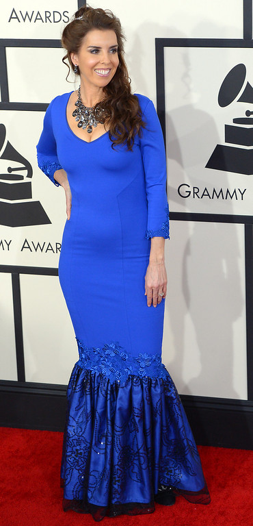 . Laura Sullivan arrives at the 56th Annual GRAMMY Awards at Staples Center in Los Angeles, California on Sunday January 26, 2014 (Photo by David Crane / Los Angeles Daily News)