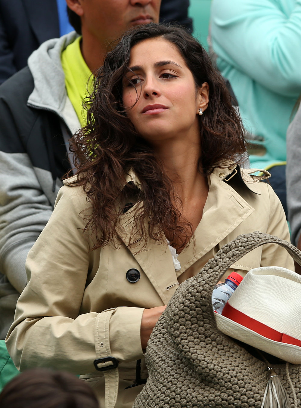 . Xisca Perello, the girlfriend of Rafael Nadal of Spain watches his Men\'s Singles final match against David Ferrer of Spain during day fifteen of the French Open at Roland Garros on June 9, 2013 in Paris, France.  (Photo by Clive Brunskill/Getty Images)