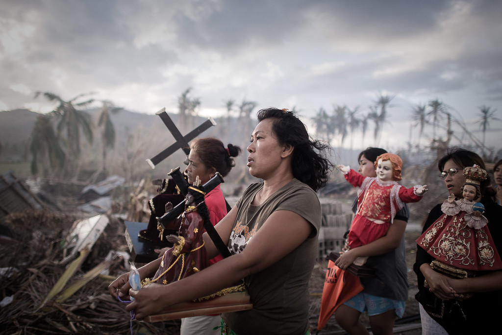 . This picture by French photographer Phillipe Lopez, France, Agence France-Presse (AFP) won 1st Prize in Spot News Singles category of the 57th World Press Photo Contest, it was announced by the organizers in Amsterdam, The Netherlands, 14 February 2014. It shows survivors of typhoon Haiyan marching during a religious procession in Tolosa, on the eastern island of Leyte. One of the strongest cyclones ever recorded, Haiyan left 8,000 people dead and missing and more than four million homeless after it hit the central Philippines.  EPA/PHILIPPE LOPEZ / AFP