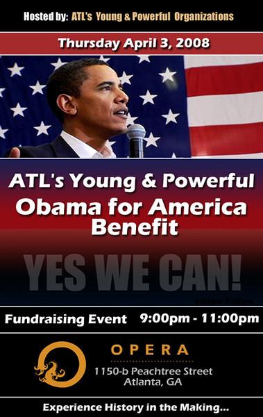 Members Only Mixer & Obama Benefit @ Opera ::: ATL, GA, USA [April.03.2008]