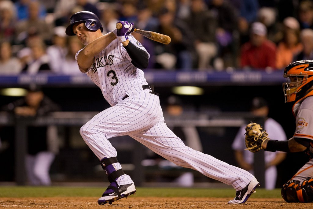 """. 5. MICHAEL CUDDYER <p>Former Twin to miss two months, might maintain 1 RBI lead over Joe Mauer. (unranked) <p><b><a href=\'http://tracking.si.com/2014/06/10/rockies-place-michael-cuddyer-disabled-list-fractured-shoulder/\' target=\""""_blank\""""> LINK </a></b> <p>    (Justin Edmonds/Getty Images)"""