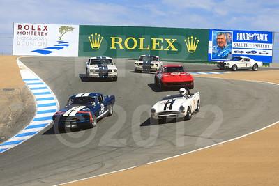 2012 RMMR Sat Group 7A Rolex Monterey Motorsport Reunion Race Group 7A
