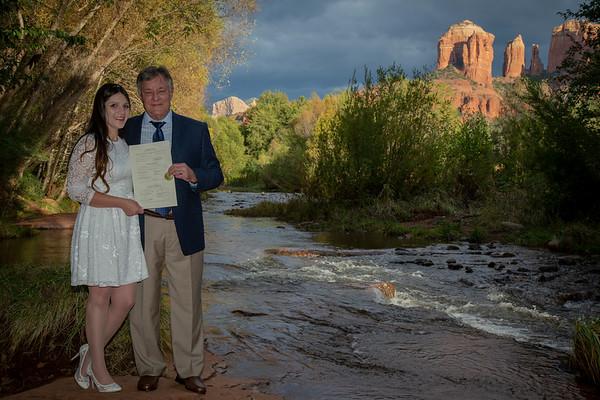 Nicole and Michael's Sedona Wedding