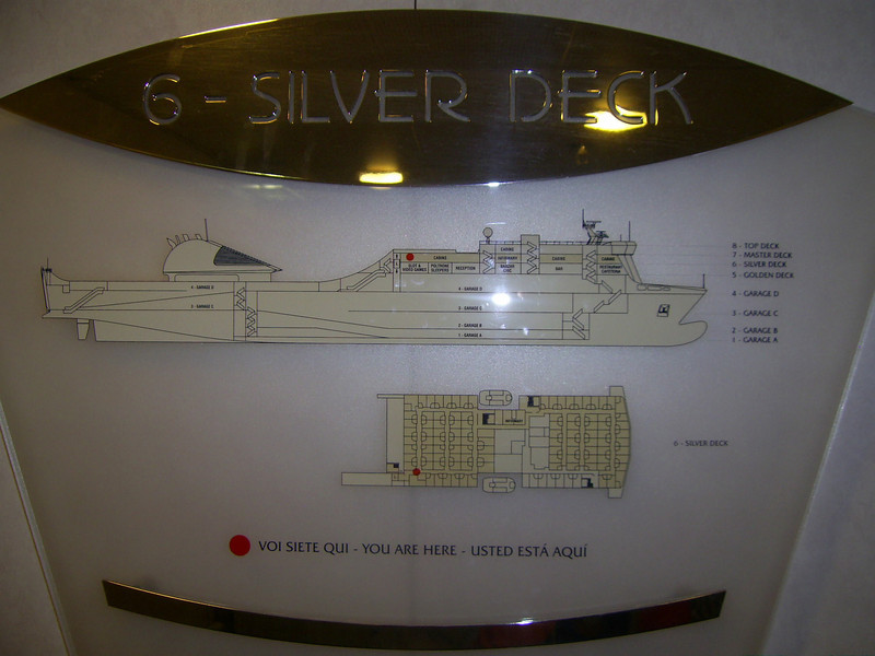 2012 - On board SUPERFAST II : deck plane.