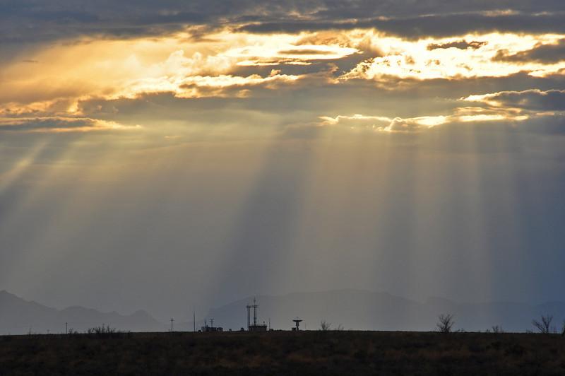 White Sands Missile Range at sunset