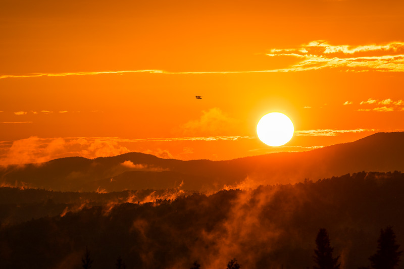 Sea Plane Sunset on Deer Mountain