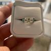 2.10ct Art Deco Peruzzi Cut Diamond Ring, GIA W-X SI2 20