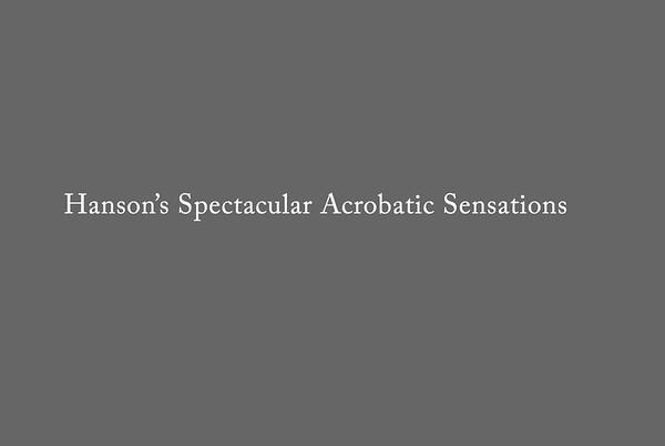 Hansen's Spectacular Acrobatic Sensations