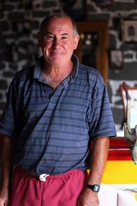 Manuel Tibério da Silva, born 1954, pictured at the boathouse of Calheta de Nesquim, Pico. August 14, 2012.