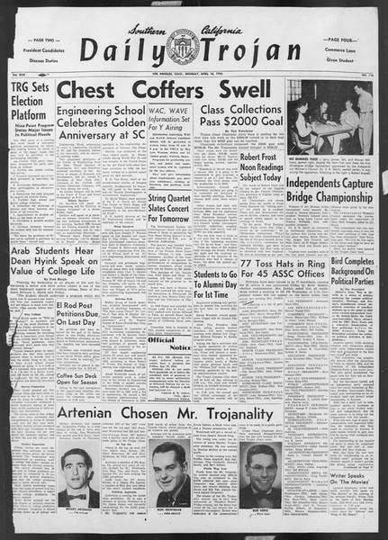 Daily Trojan, Vol. 46, No. 116, April 18, 1955