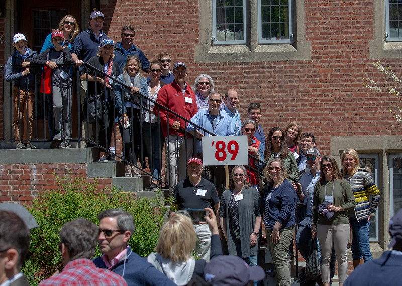 Class of 1989 at the Alumni Weekend 2019 parade