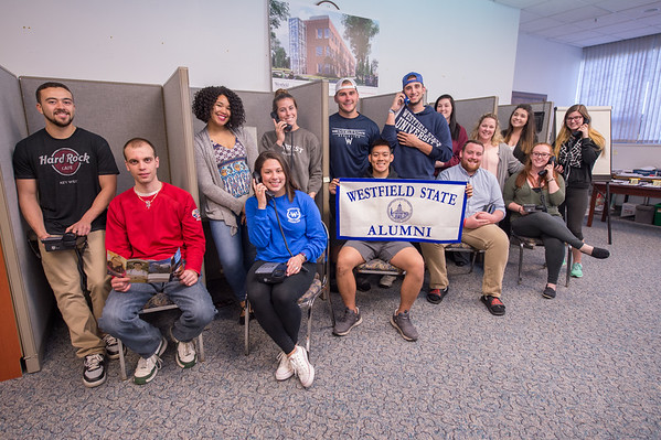 Alumni Office Phone-a-thon Student Workers, May 2017