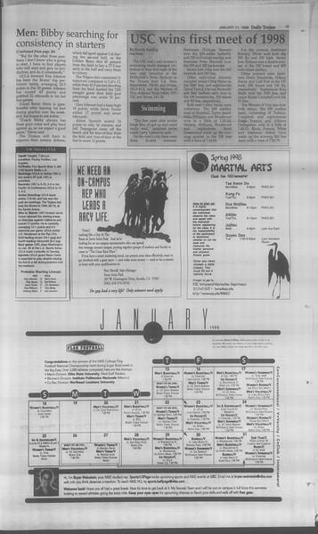 Daily Trojan, Vol. 133, No. 8, January 21, 1998