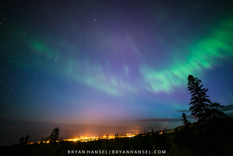 Northern Lights over Grand Marais