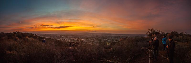 Cowles Mountain - Double Sunrise - 2014