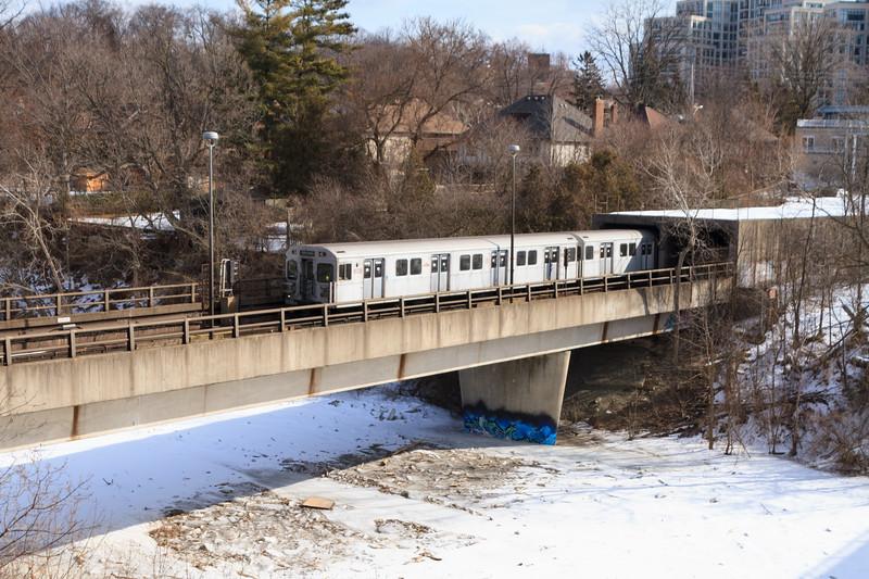 Subway Train Crossing the Humber