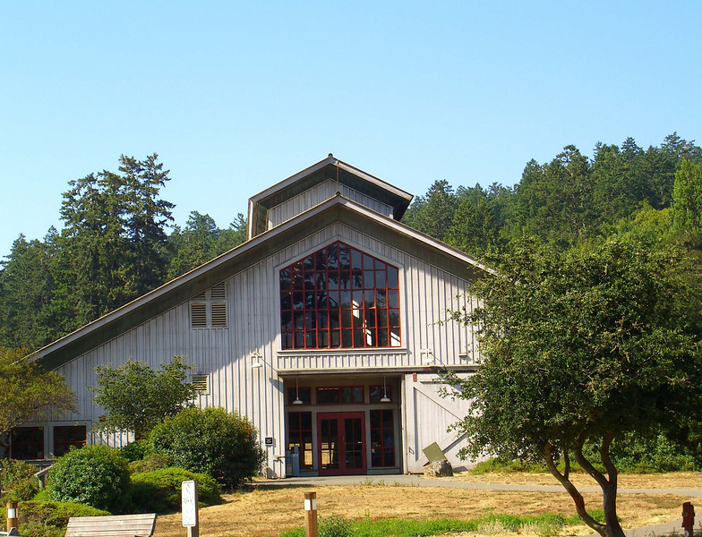 I usually don't take pictures of government structures, but this Point Reyes National Seashore Bear Valley visitor center is designed to look like a barn and really blends in well with Morgan Horse Ranch.