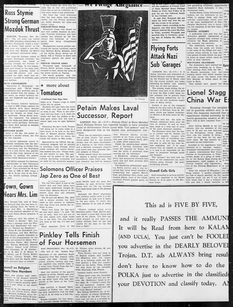 Daily Trojan, Vol. 34, No. 44, November 19, 1942