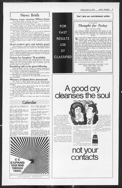 Daily Trojan, Vol. 61, No. 103, April 10, 1970