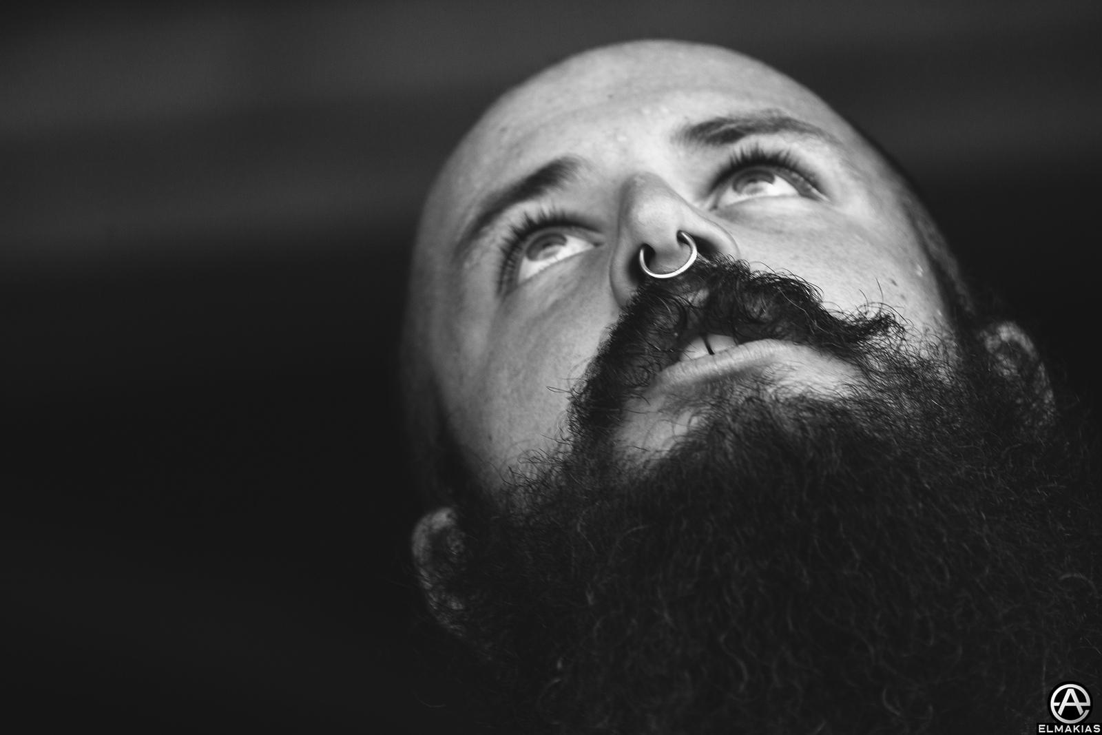 Onstage Portrait of Joel Quartuccio of Being As An Ocean live at Vans Warped Tour 2015 by Adam Elmakias