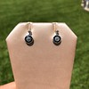 1.00ctw Old Mine Cut and Sapphire Target Dangle Earings 9
