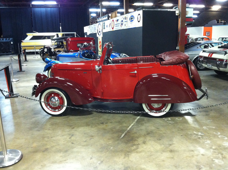 This red 1940 Riviera is For sale, contact John Lyford at bantamjohn@aol.com