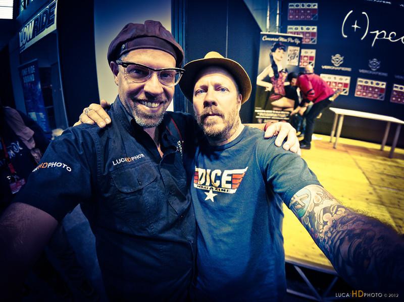 Matt Davis (Dice Magazine) & Me, Verona 1/2012