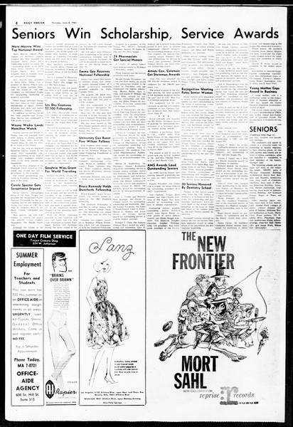 Daily Trojan, Vol. 52, No. 126, June 08, 1961