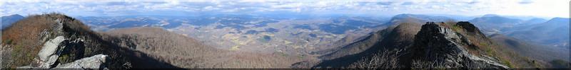 The sweeping panorama from the narrow ridge atop Three Top.