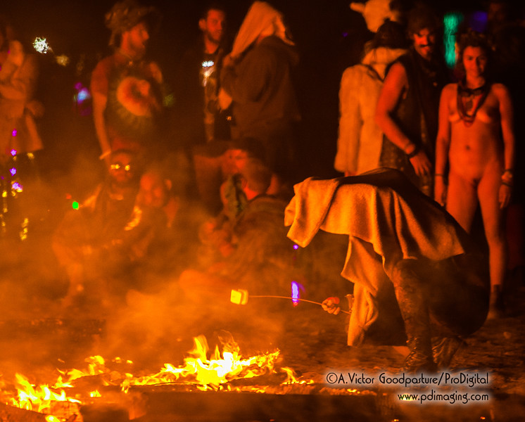 One popular activity (beside running around the fiery pile naked) is cooking food, particularly roasting marshmellows.